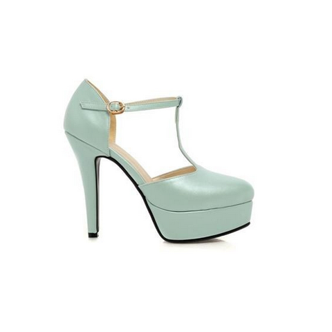 DROPKICKS CANADA WHOLESALE FOOTWEAR LIGHT PASTEL BABY BLUE ELLA-01 HIGH HEEL PUMPS SHOES STILETTOS