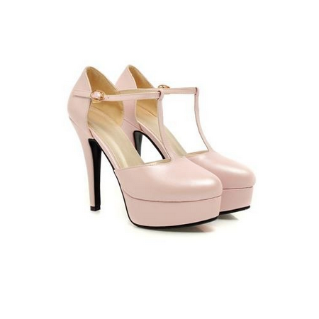 DROPKICKS CANADA WHOLESALE FOOTWEAR LIGHT PASTEL PINK ELLA-01 HIGH HEEL PUMPS SHOES STILETTOS