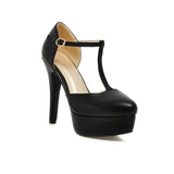 DROPKICKS CANADA WHOLESALE FOOTWEAR BLACK ELLA-01 HIGH HEEL PUMPS SHOES STILETTOS