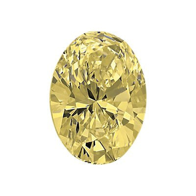 1.01-Carat Light Yellow Oval Diamond