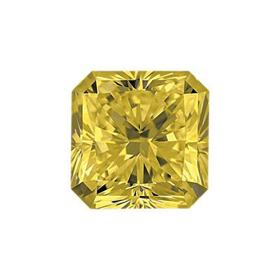 0.50-Carat Yellow Radiant Cut Diamond