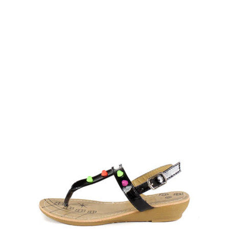 SUZY2 BLACK CANDY STUDDED KIDS SANDAL