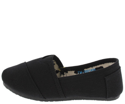 TM3021KM BLACK SLIP ON SKIMMER KIDS FLAT