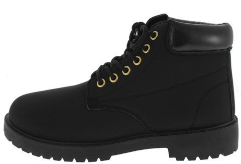 TIMBER08 BLACK UTILITY ANKLE BOOT