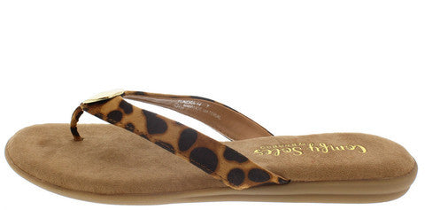 TUNDRA14 LEOPARD GOLD CIRCLE COMFORT SOLE SANDAL