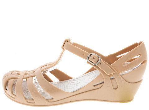 ZX1 NUDE JELLY T-STRAP WEDGE