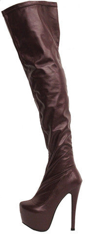 ZABRINA WINE THIGH HIGH PLATFORM BOOT