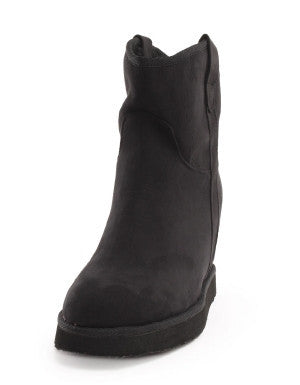 A Wedge Creation Fur Lined Suede Boots