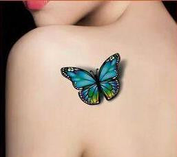 (Min order $0.5) High quality 3D Butterfly flash tattoo Waterproof Temporary Tattoo tatoo Tatto henna  makeup halloween WM004B