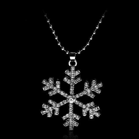 DROPKICKS STOCK ITEM: 2 Color Elsa Necklace Snowflake Silver/Blue Pendant Necklace Christmas Gift 1pc