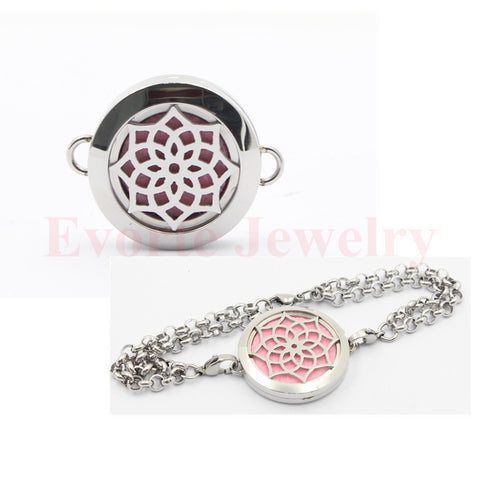 DROPKICKS STOCK ITEM: 20mm/25mm/30mm 316 Stainless Steel Silver Magnetic Solid Base Filigree Face Bracelet Locket Perfume Locket(free felt pads) Alternative Measures
