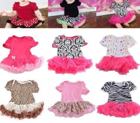 0-12M Lovely Baby Toddler Girls Ruffles Tutu Dress Romper One-Piece Outfit Dresses Clothes + Headband Freeshipping Alternative Measures - Brides & Bridesmaids - Wedding, Bridal, Prom, Formal Gown