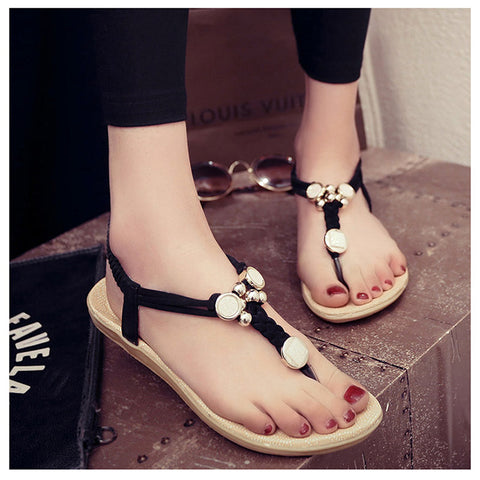 2016 Fashion Beach Sandals Women Flip Flops Sandals Summer Flat With Black Sandals Sandalias Mujer White