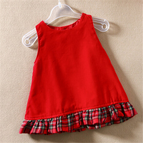 2015 new fashion baby Girls dress autumn Teenage cotton princess sleeveless vest red christmas clothing Clearance sale Alternative Measures - Brides & Bridesmaids - Wedding, Bridal, Prom, Formal Gown