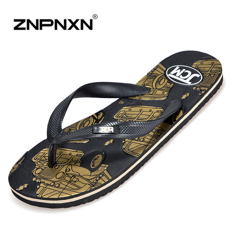DROPKICKS STOCK ITEM: 2016 New Brand Flip Flops Men Sandals Black Casual Slippers Men Shoes Summer Designer Sandals Men Clogs Sandalias ZNPNXN