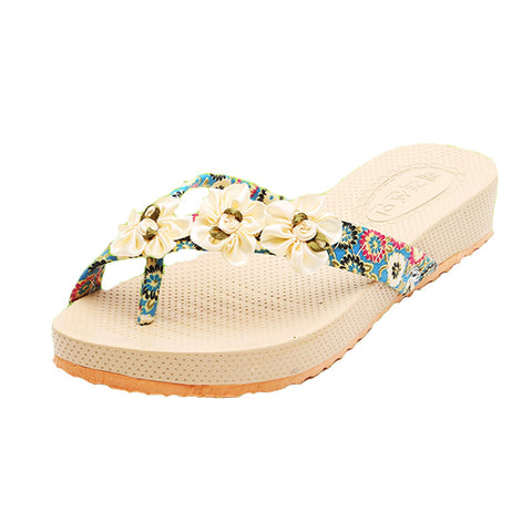 DROPKICKS STOCK ITEM: 2016 Sweet Summer Shoes Woman Sandals sandale femme Lady Beach Slippers sandalias Flat Wedge Flip Flops sandalias mujer S019