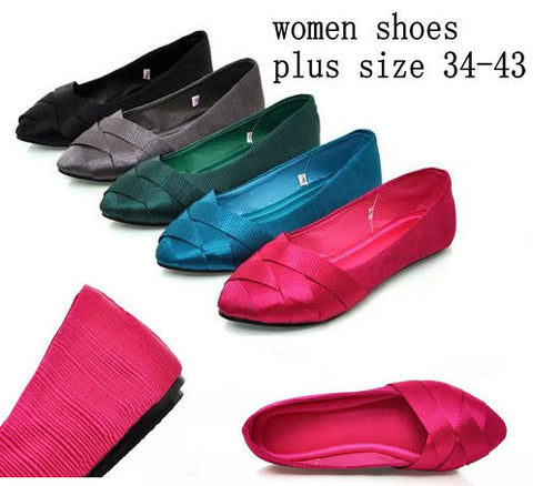 2014 Fashion Elgent Women Shoes For Ladies Flat Heel Women's Cloth Pointed Toe Shoes Ballet Flats For Women Ballerina Flats