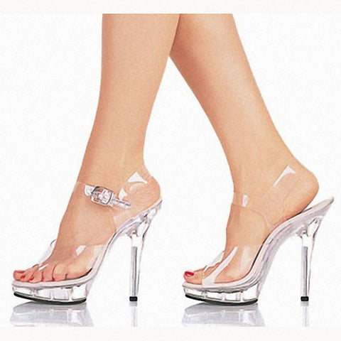 15cm high-heeled shoes lady platform crystal sandals low price dance shoes 5 inch high heels sexy stripper shoes