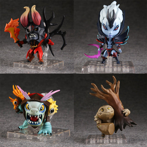 "1pcs Cute 3-4"" DOTA 2 dota2 Slardar Lucifer Tiny Silkwood Boxed 1st Ver PVC Action Figure Model Toy best XMAS gift Alternative Measures"