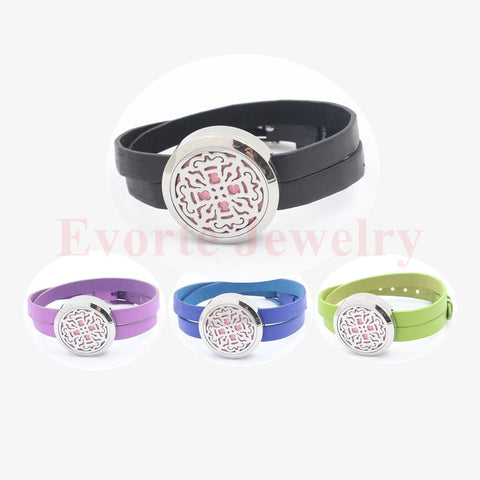 DROPKICKS STOCK ITEM: 30mm 316L stainless steel silver twist-off perfume locket essential oil diffusing wrap bracelet locket (free felt pads) Alternative Measures