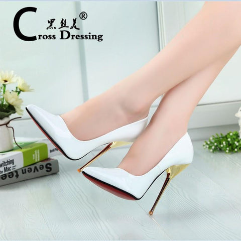 14cm Big Size 9~16 Extreme Sexy Thin High Heels Red Bottom Women Pumps For Girls Ladies Party Wedding Formal Work Shoes - ALX-BDS