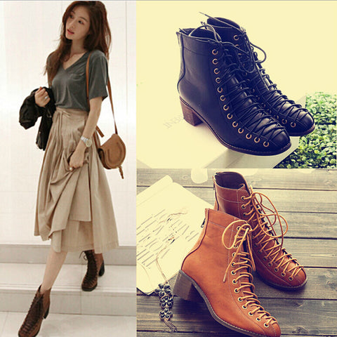 Women's Gothic Vintage Style Ankle Boots Tb0111