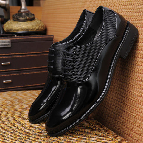 2015 Classic Black Oxford Business Soft Breathable Comfortable Genuine Leather Men Dress Shoes Mens Pointed Toe Flats For Mela