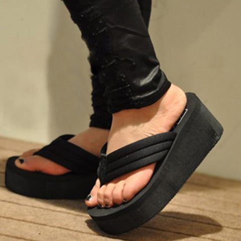 2015 Summer Shoes Women Platform Sandals Wedge Flip Flops Sapato Feminino High Heel slippers Sandalias Mujer Plataforma Chanclas