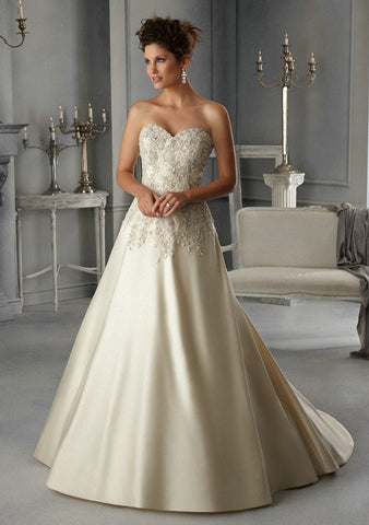 Appliqued Sweetheart A Line Wedding Gowns Alternative Measures