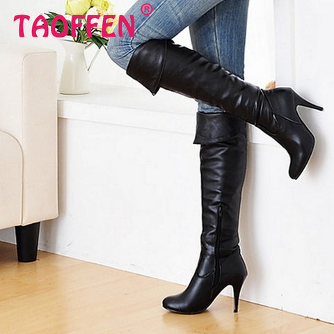 2012 NEW fashion high heel knee casual dress patent leather sexy women P1318-2 Hot sell size 34-47 boots