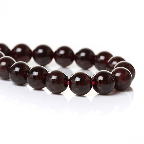 "(Grade A)Natural Garnet Loose Beads Round Dark Red About 8mm(3/8"") Dia,39.5cm(15 4/8""),1 Strand(approx 49PCs) Mr.Jewelry"