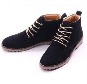 2014 new Nubuck Leather shoes men sneakers autumn men flats korean fashion blue+black men Flats shoes breathable casual shoes