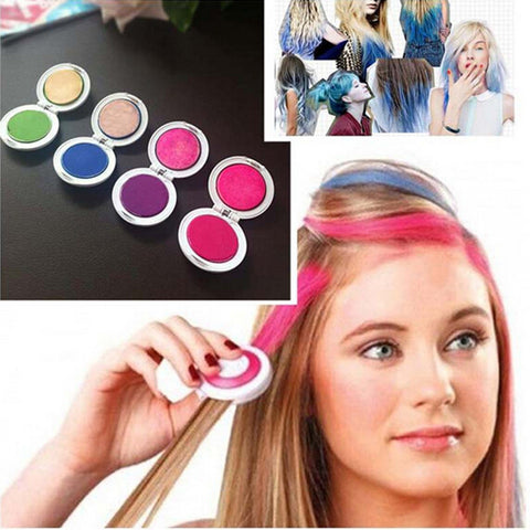 4PCS/Set Hair Chalk Powder Dye Soft Pastels Salon Hair Color Crayons Fashion Christmas DIY Temporary Wash-Out Alternative Measures