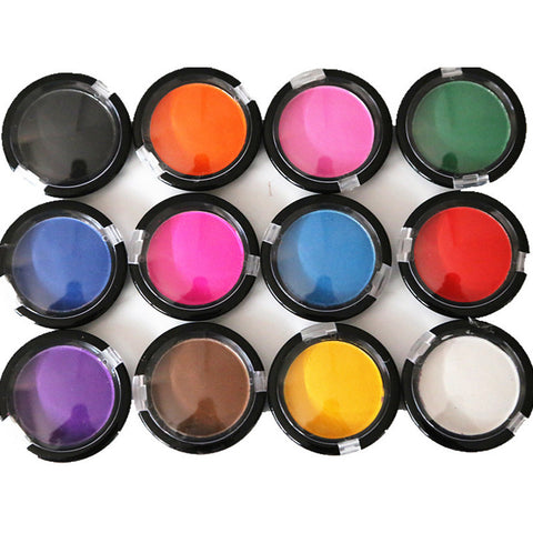 DROPKICKS STOCK ITEM: 12Colors/Set Crayons Hair Temporary Hair Chalk Dye Soft Pastel Disposable Show Party Haircare Powder Hair Color Pen Crazy