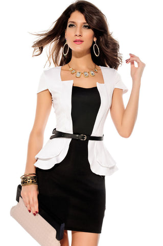 DROPKICKS STOCK ITEM: new 2013 Fashion Cap-sleeves Peplum Dress LC2827 Fast Delivery clearance sale casual european style