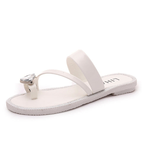 2016 Summer Flat Shoes Women Beach Sandals Thongs Slippers Flip Flops Sweet Style sandalias mujer