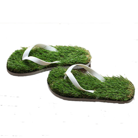 DROPKICKS STOCK ITEM: 2016 New Men Imitation Grass Flip Flops For Men Summer Beach Flip Flops Flat Shoe Out Sandals Slipper Women Sandalias Mujer TX03