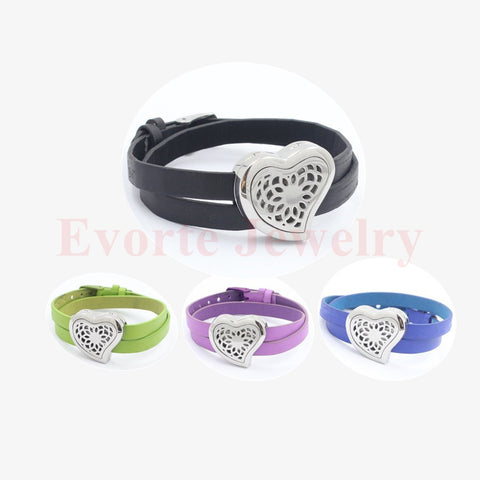 DROPKICKS STOCK ITEM: 30mm stainless steel silver magnetic curvy heart perfume locket essential oil diffusing wrap bracelet locket (free felt pads) Alternative Measures