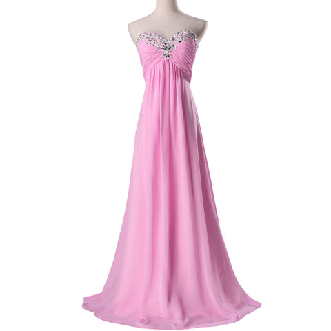 2014 New Arrival! Fast Delivery Grace Karin Women Bridesmaid Dress, Pink Long Wedding party Gown CL3518-2# - BRIDESMAID DRESSES BRIDAL GOWNS PROM