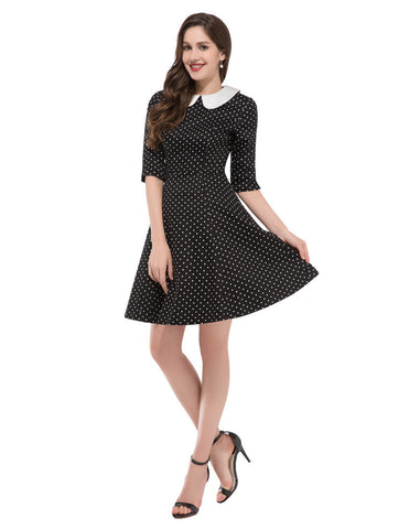 4 Colors Grace Karin Casual Audrey hepburn Plus Size 50s 60s Dress Rockabilly Sewing Half Sleeve Autumn Dresses Cotton H006088 Alternative Measures - Brides & Bridesmaids - Wedding, Bridal, Prom, Formal Gown