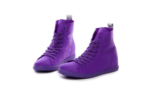 2015 High Top Korean Women flat Boot Hip-Hop Stretch Fabric Sport Canvas Shoes Female Womens Casual Sneakers Flats - ALX-BDS