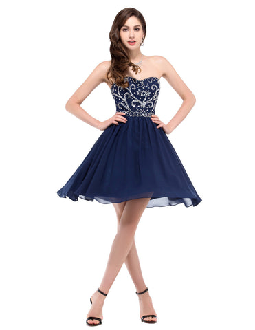 DROPKICKS STOCK ITEM: Short Black/Red/Royal Blue/Green/Navy Blue Evening Dresses 2016 Vestidos De Noche Vortos Formal Dresses Vestido Azul Royal L6049