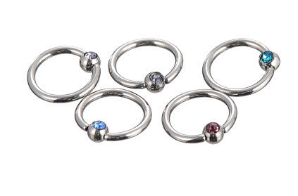 1 pair Captive Bead Titanium Captive Rings Eyebrow Tragus Nose Nipple Ring Bar Lips Piercings High Quality 316L Stainless Steel
