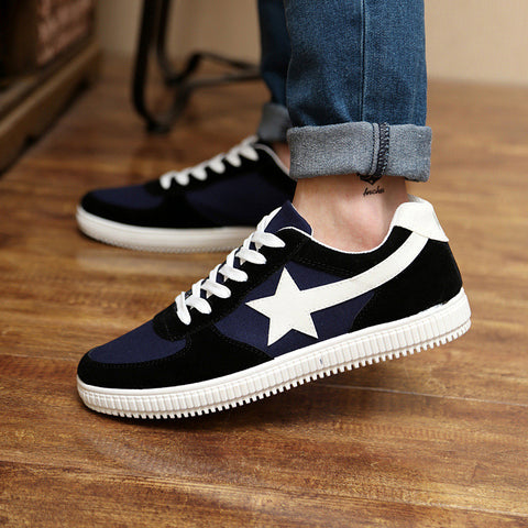 2015 Korean fashion new men shoes spring summer style round toe star decorative men's flats shoes breathable casual shoes 39-44