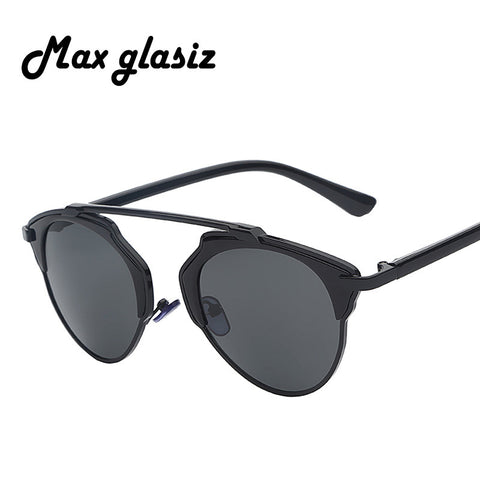 2014 SO REAL new home Halley that cateye sunglasses, glass Shades unisex party outdoors sun lenses frames Goggles Metal