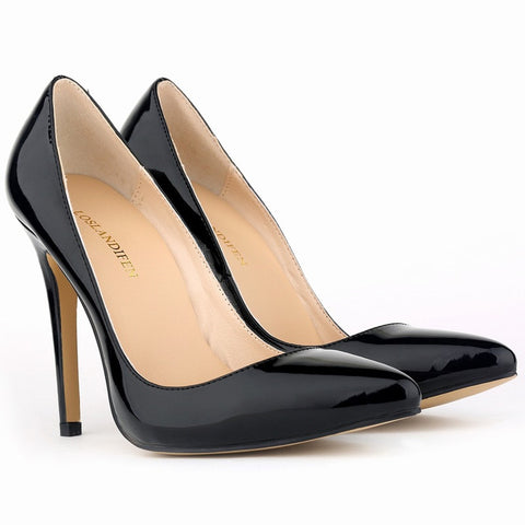 15 Colors Size 34-42 Pointed Toe Women Pumps Ladies Pu Leather Stiletto Heels Party Wedding Shoes Woman 2015 Chaussure Femme