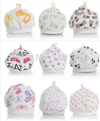 10pcs/lot Hot sale baby caps for boys Girls newborn hats Infant Caps 0-8 months