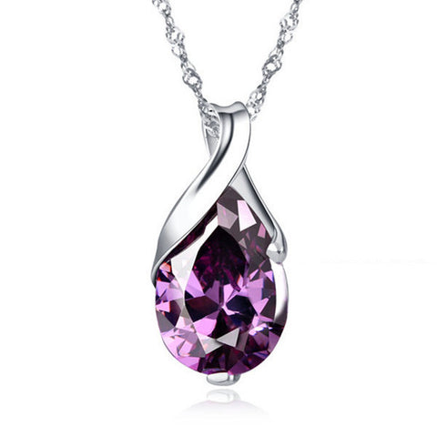 2014 New Arrival,AAA Grade Austria Crystal,European Style Necklace,Genuine 925 Silver,Top Quality Jewelry Free Shipping