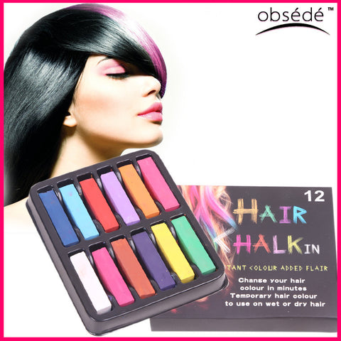 DROPKICKS STOCK ITEM: Fashion Hair Chalks 4 Pieces/Set 4 Color Temporary Hair Easy To Dye Soft Pastels Cost-effective Convenience Chalk-pastels DIY Alternative Measures