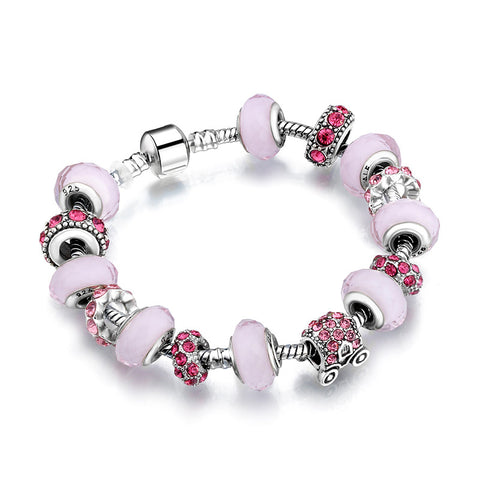 (12Pcs/Lot) Top Quality New European charms jewelry Real Crystal Beads Alloy Feet Charms Fit European Bracelet Women Jewelry